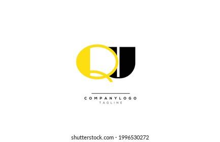 Alphabet QU , UQ  initial Letter Monogram Icon Logo vector illustration