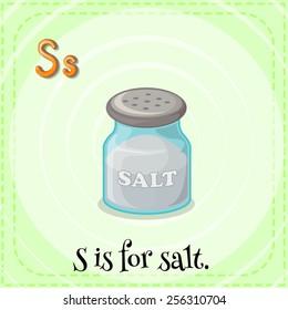 Alphabet S is for salt