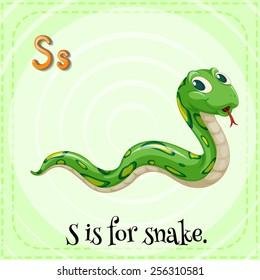 Alphabet S is for snake