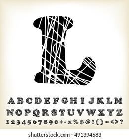 alphabet set design, vector illustration