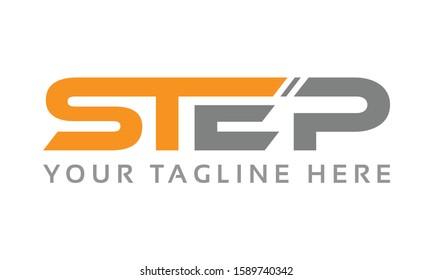 alphabet Step typography font logo template