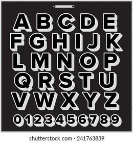 Alphabet style hand drawing