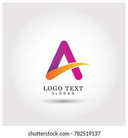 A Alphabet Symbol & icon Logo Vector Template