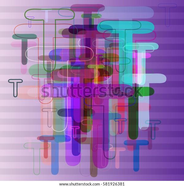 Alphabet T vector icon