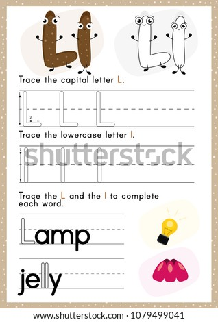 alphabet tracing worksheet alphabet activity pre stock vector  alphabet tracing worksheet alphabet activity for pre schoolers and kindergarten  azenglish activity for
