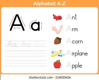 Alphabet Worksheet Stok Vektorler Gorseller Ve Vektor Sanati