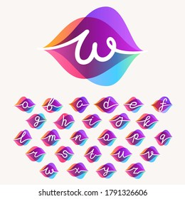 Alphabet with transparency sound waves logo design concept. Vector icon perfect to use in any audio electronic labels, music posters, dj identity, etc.