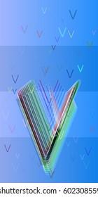 Alphabet V template art