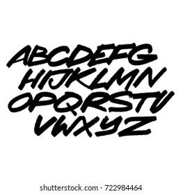 Alphabet. Vector background
