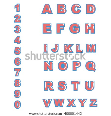 Alphabet Vector Font Type Letters Numbers Stock Vector Royalty Free
