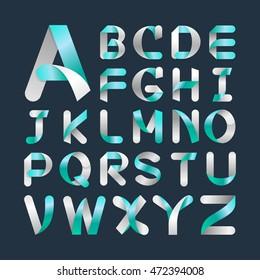 Alphabet Vector Font.Capital letter A to Z. Vector illustration.
