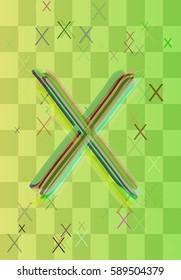 Alphabet X design elements