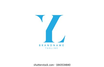 Alphabet YL, LY, Y and L Monogram Initial letter logo.