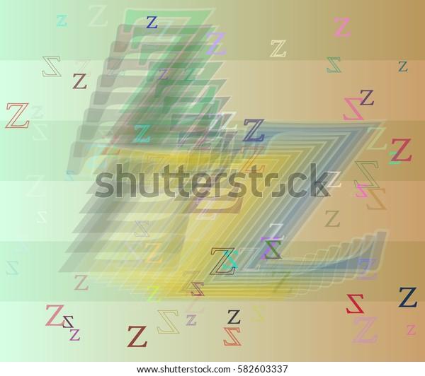 Alphabet Z template art