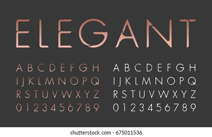 Alphabetic font and number