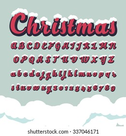 Alphabetic fonts and numbers for Christmas