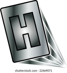 alphabetic letter H