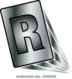 alphabetic letter R