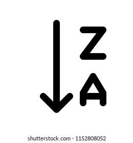 alphabetical order descending