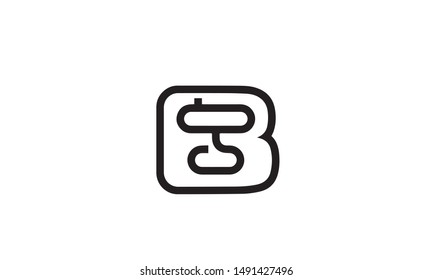 alphabets BG and GB , B or G abstract letter mark monogram vector logo template