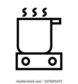 Already cooked, cooking, Hot line icons - Vector