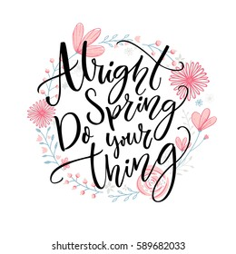 Spring Sayings Stock Illustrations Images Vectors Shutterstock