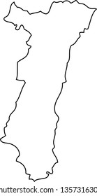 Alsace. Map region of France