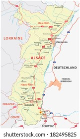 alsace rod map