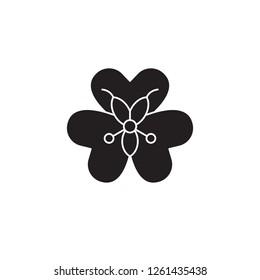 Alstroemeria black vector concept icon. Alstroemeria flat illustration, sign