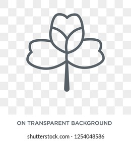 Alstroemeria icon. Trendy flat vector Alstroemeria icon on transparent background from nature collection. High quality filled Alstroemeria symbol use for web and mobile