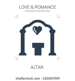altar icon. high quality filled altar icon on white background. from love romance collection flat trendy vector altar symbol. use for web and mobile
