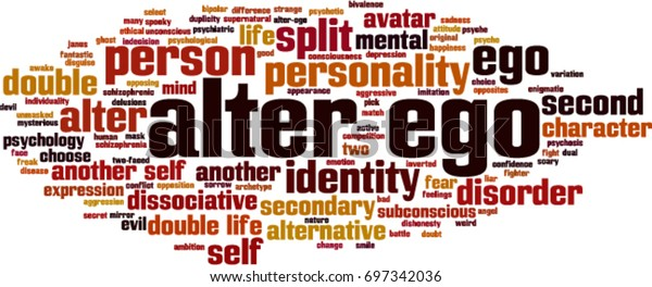 Alter Ego Word Cloud Concept Vector Stock Vector (Royalty