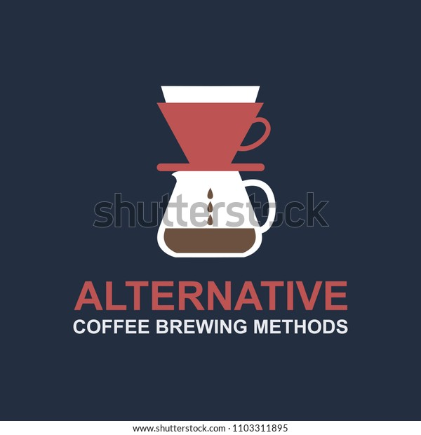 alternative coffee maker, device for brewing coffee icon