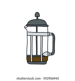 alternative coffee maker icon. device for brewing coffee. vector illustration