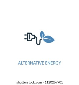 Alternative energy concept 2 colored icon. Simple blue element illustration. Alternative energy concept symbol design from green energy set. Can be used for web and mobile UI/UX