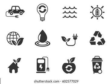 alternative energy icon set