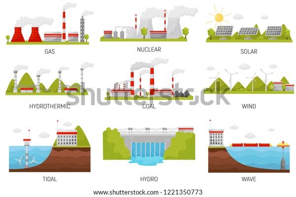 Alternative Energy Sources Hydroelectric Wind Nuclear Stock ...
