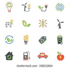 alternative energy web icons for user interface design