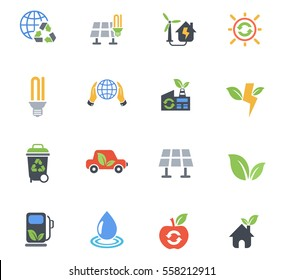 alternative energy web icons for user interface design