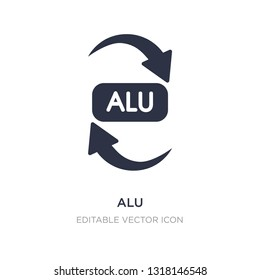 alu icon on white background. Simple element illustration from UI concept. alu icon symbol design.