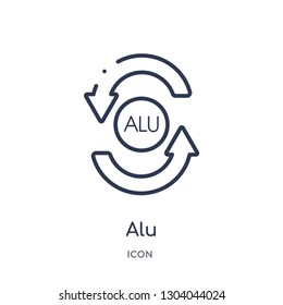 alu icon from user interface outline collection. Thin line alu icon isolated on white background.