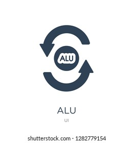 alu icon vector on white background, alu trendy filled icons from UI collection, alu vector illustration