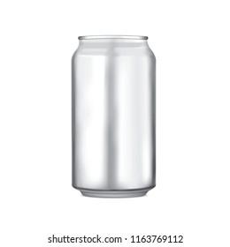 Aluminium can blank template vector