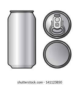 Aluminium Can container beer water beverage drink