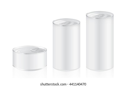 Aluminium can mockup in difference size ideal for food and other. Ideal for food and other.