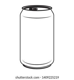 aluminium can product icon vector illustration