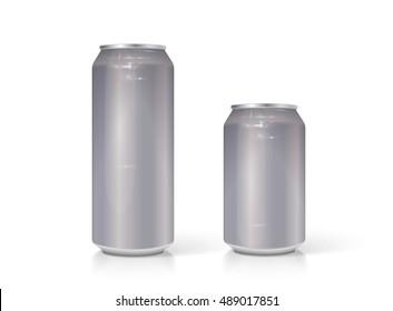 Aluminum can vector visual 330 ml & 500 ml.