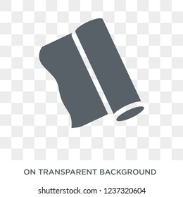 aluminum foil icon. aluminum foil design concept from Kitchen collection. Simple element vector illustration on transparent background.