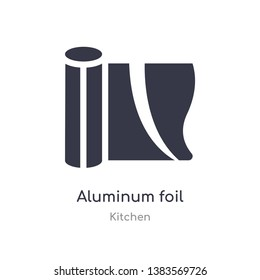 aluminum foil icon. isolated aluminum foil icon vector illustration from kitchen collection. editable sing symbol can be use for web site and mobile app