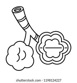 Alveolus disease icon. Outline illustration of alveolus disease vector icon for web design isolated on white background
